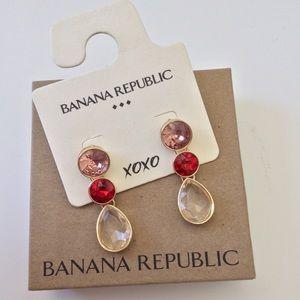 Banana Republic Gem Drop Earrings New In Box